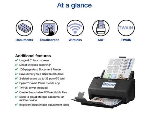 Epson Workforce ES-580W Wireless Document Scanner