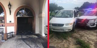رجل يقتحم بسيارته كنيسة ويُضرم النار فيها في حين كان المؤمنون في داخلها