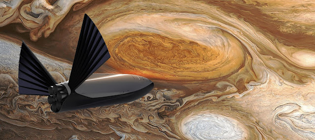 SpaceX Interplanetary Transport System Ship at Saturn