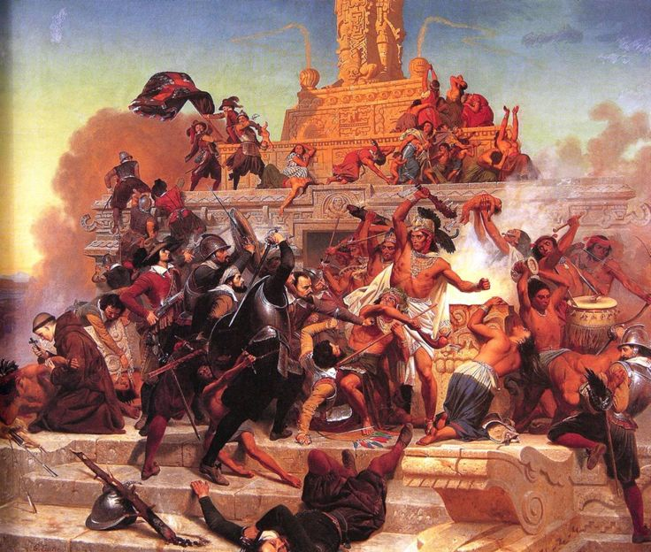 Hernán Cortés sacked the Aztec capital of Tenochtitlán