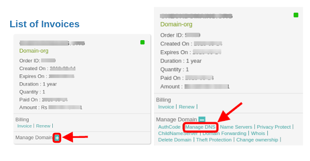 add custom domain name in blogger