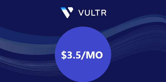 April 2021, $3.5/mo Vultr VPS hosting New York Server