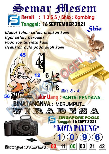 Syair Semar Mesem SGP Kamis 16 -Sep-2021