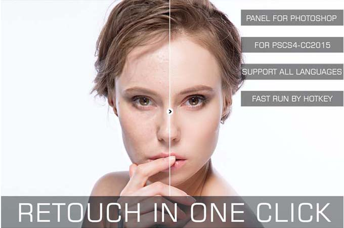 Retouch in One Click V1.0 Photoshop Panel