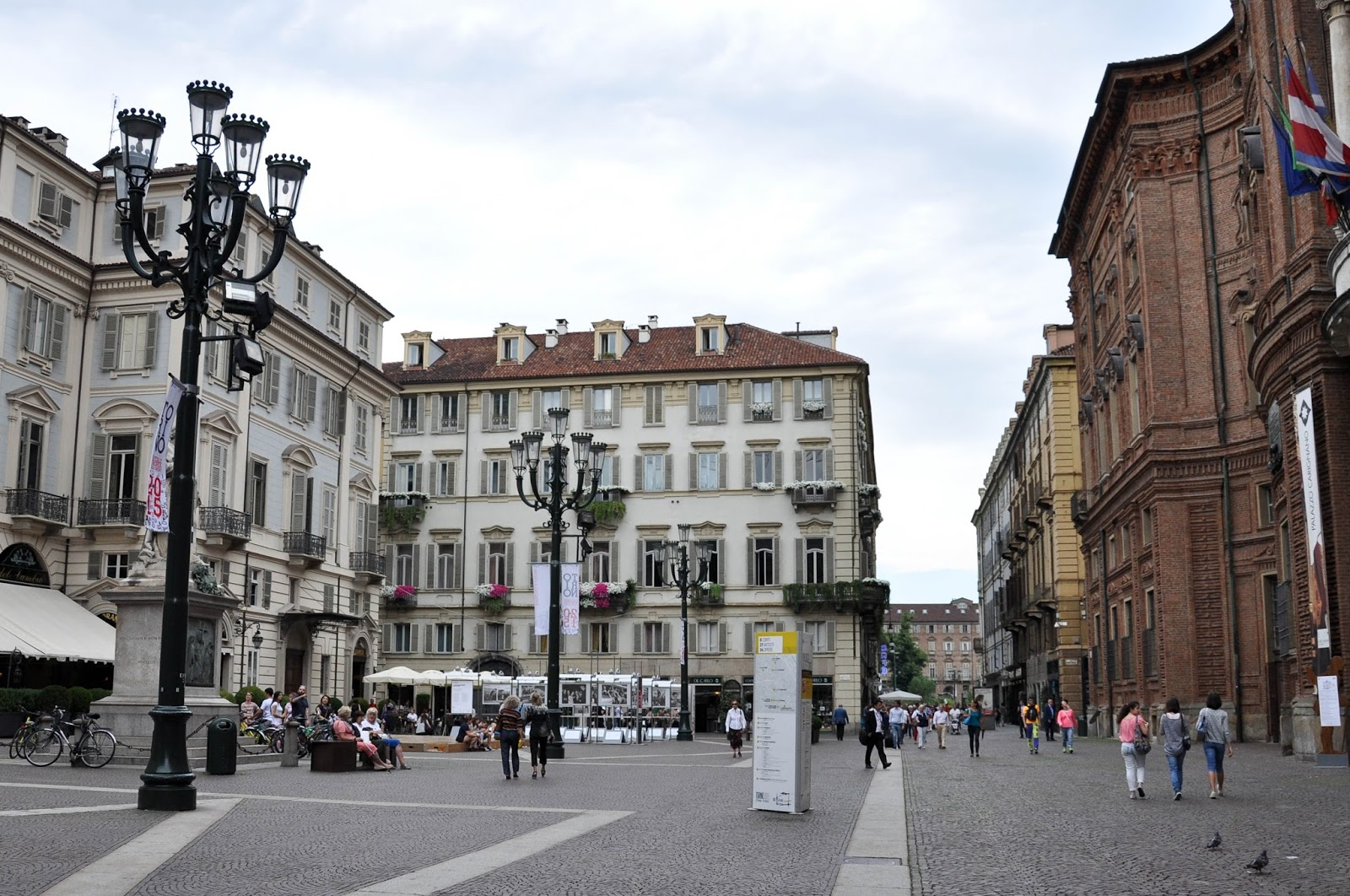 Walking around Turin, Italy