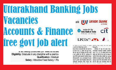 Uttarakhand Banking Jobs Vacancies