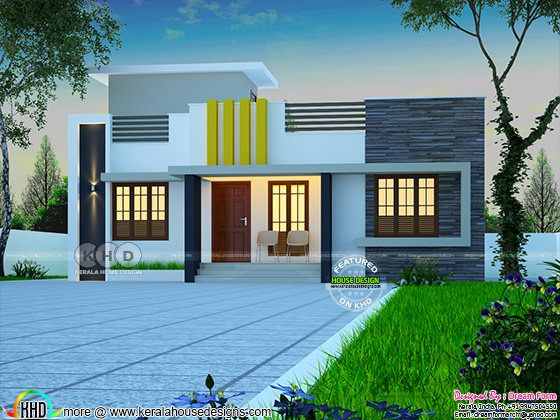 1078 sq-ft low cost Kerala home design