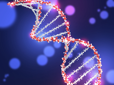 3D DNA structure background