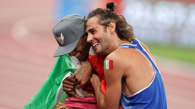 Medali Emas  Lompat Tinggi Putra Olimpiade Tokyo 2020 Diraih Dua Atlet