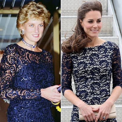 4 times Princess Diana and Kate Middleton were style twins