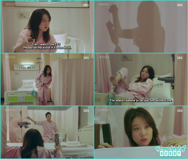 na ri changing the clothes in the room and hwa shin was behind the curtain in the same room  - Jealousy Incarnate - Episode 3 Review - Hospital Encounter