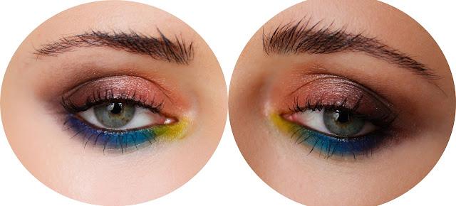 makijaż wykonany paletą sleek