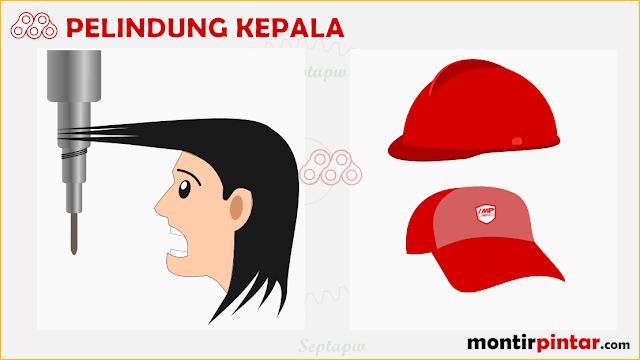 pelindung kepala untuk keselamatan kerja di bengkel
