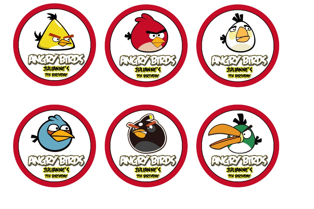 Toppers Personagens Angry Birds: Liz Loves Lexi And Arkin: Angry Birds Cupcake Toppers