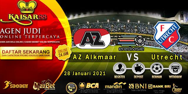 Prediksi Bola Terpercaya Liga Eredivisie AZ Alkmaar vs Utrecht 28 Januari 2021