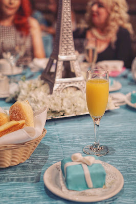 Parisian Breakfast at Tiffany's Bridal Shower Decoration - table