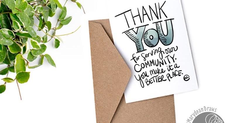 Printable munity helpers thank