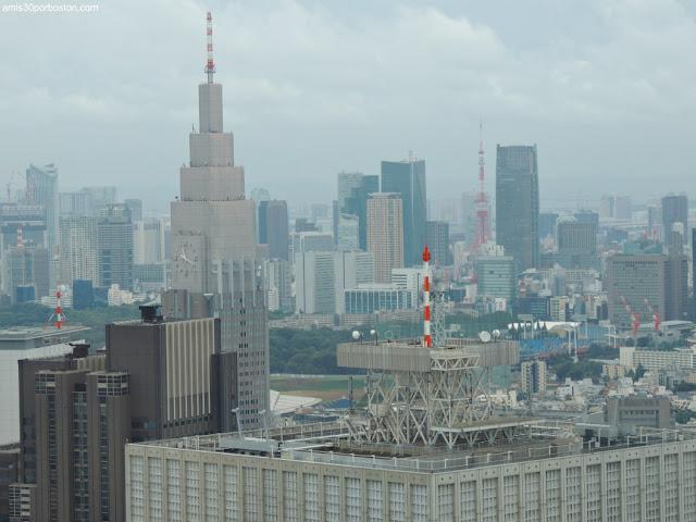 Tokyo Tower desde el Observatorio del Edificio del Gobierno Metropolitano de Tokio