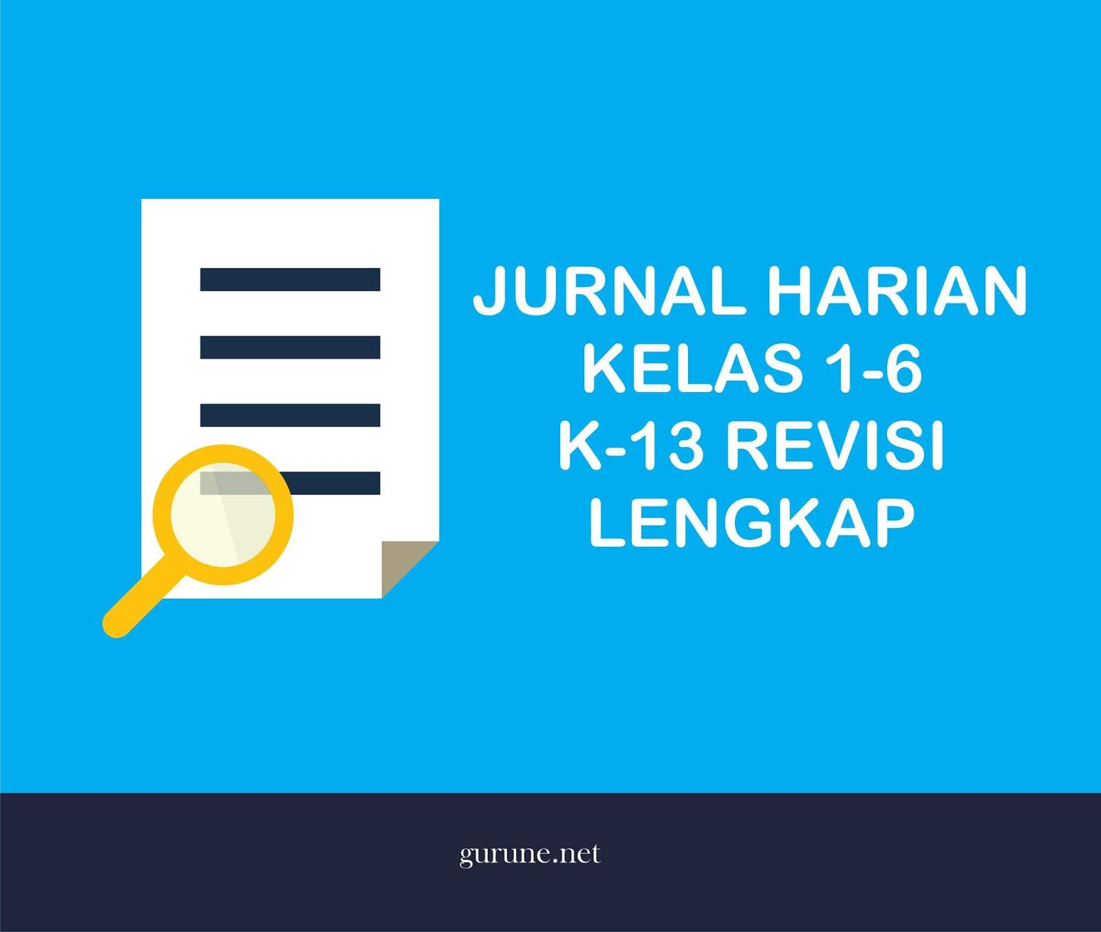 Download Jurnal Harian Sekolah Dasar Kelas 1 2 3 4 5 6 Tahun