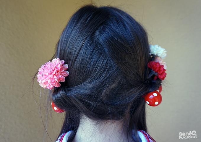 Coiffure kimono, couettes