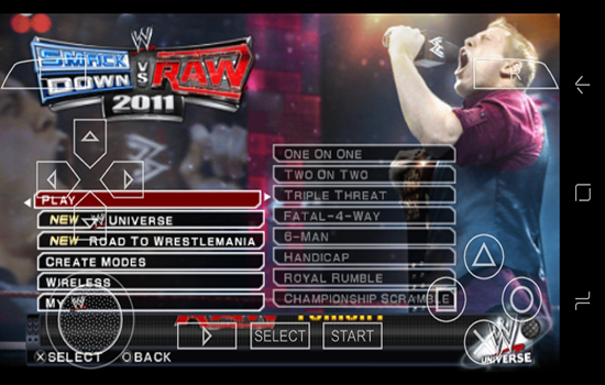 تحميل لعبة WWE على محاكي PPSSPP للاندرويد بكل سهولة