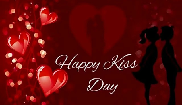 Happy kiss day wishes.