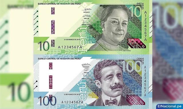 Nuevos billetes de S/ 10 y S/ 100