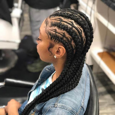 Trendy Fishbone Braids For African American