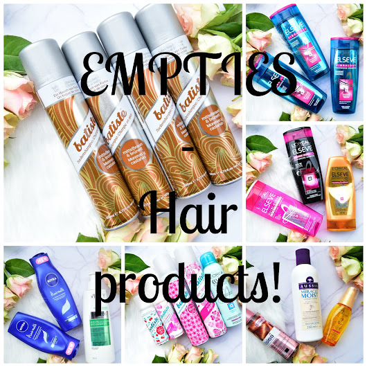 EMPTIES - Hair products!