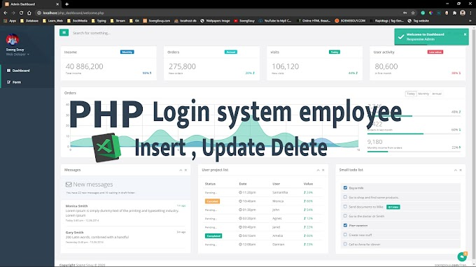 Merge form insert to dashboard PHP Login