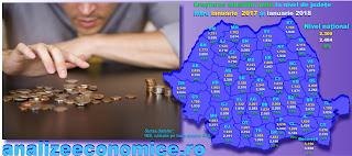 Topul județelor după creșterile salariale din prima lună a anului