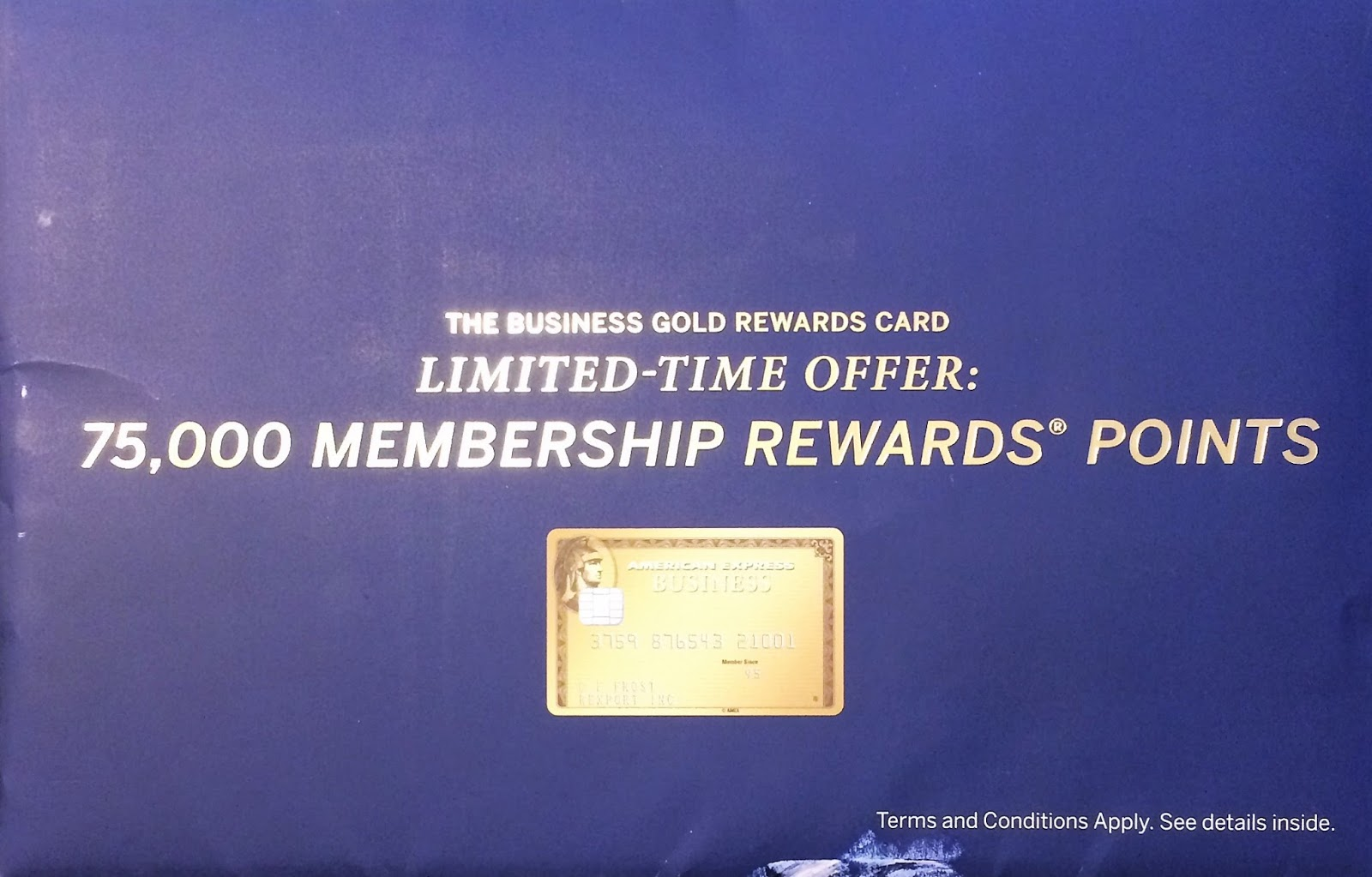 received another enticing offer in the mail for 75k membership rewards points after spending 5000 in 3 months for the amex business gold rewards card - Business Gold Rewards Card
