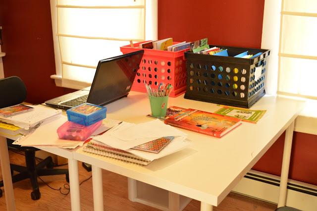 Ikea Desks and Milk Crates