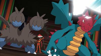 Pokemon Sol y Luna Capitulo 118 Temporada 20 Apunta al piso superior, el explosivo gimnasio dragón