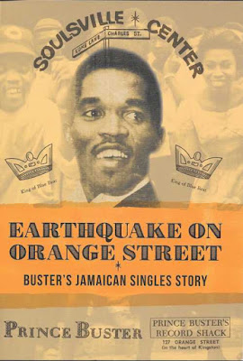 The cover features Prince Buster and some of the graphics from his paper labels, including Soulsville Center.