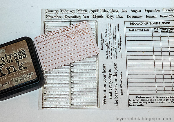 Layers of ink - Dry embossed color blocks card tutorial by Anna-Karin Evaldsson. Stamp with Simon Says Stamp Document It stamp set.