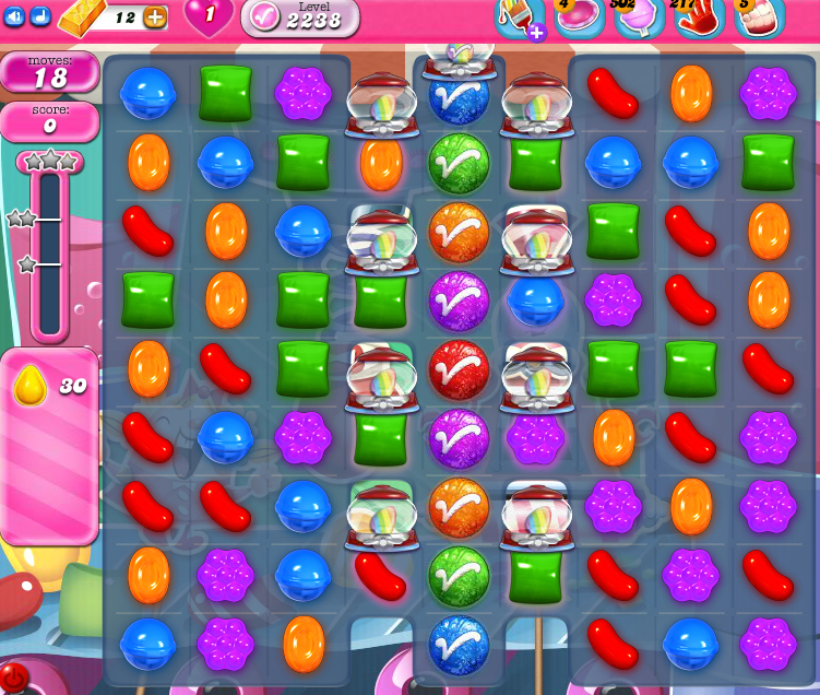 Candy Crush Saga level 2238