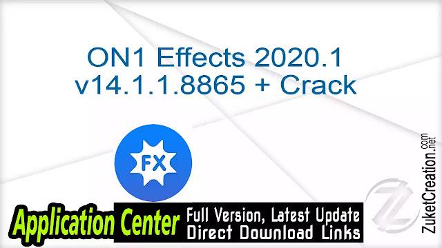 ON1 Effects 2020.1 v14.1.1.8865 + Crack