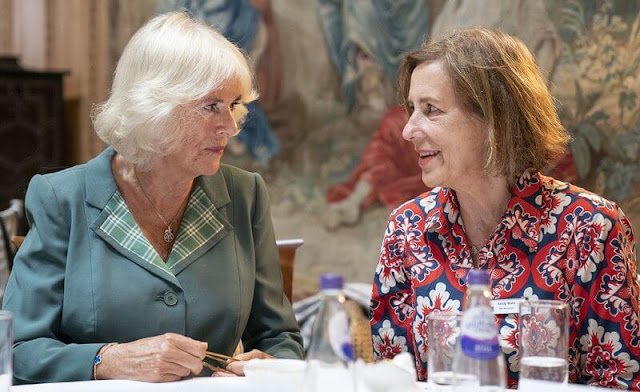 The Duchess of Cornwall visited the charity South Ayrshire Women's Aid