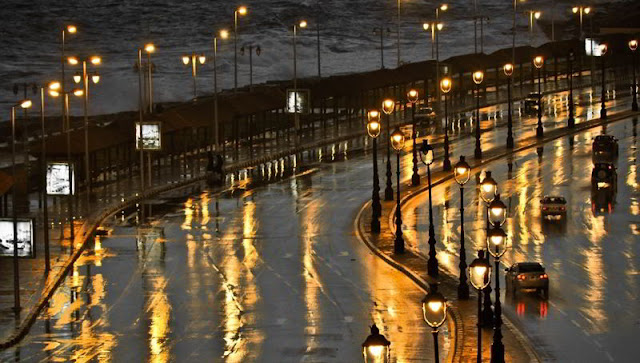 الاسكندرية تحت الامطار