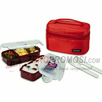 Lock & Lock HPL752DR Lunch Box 2 Pcs Set