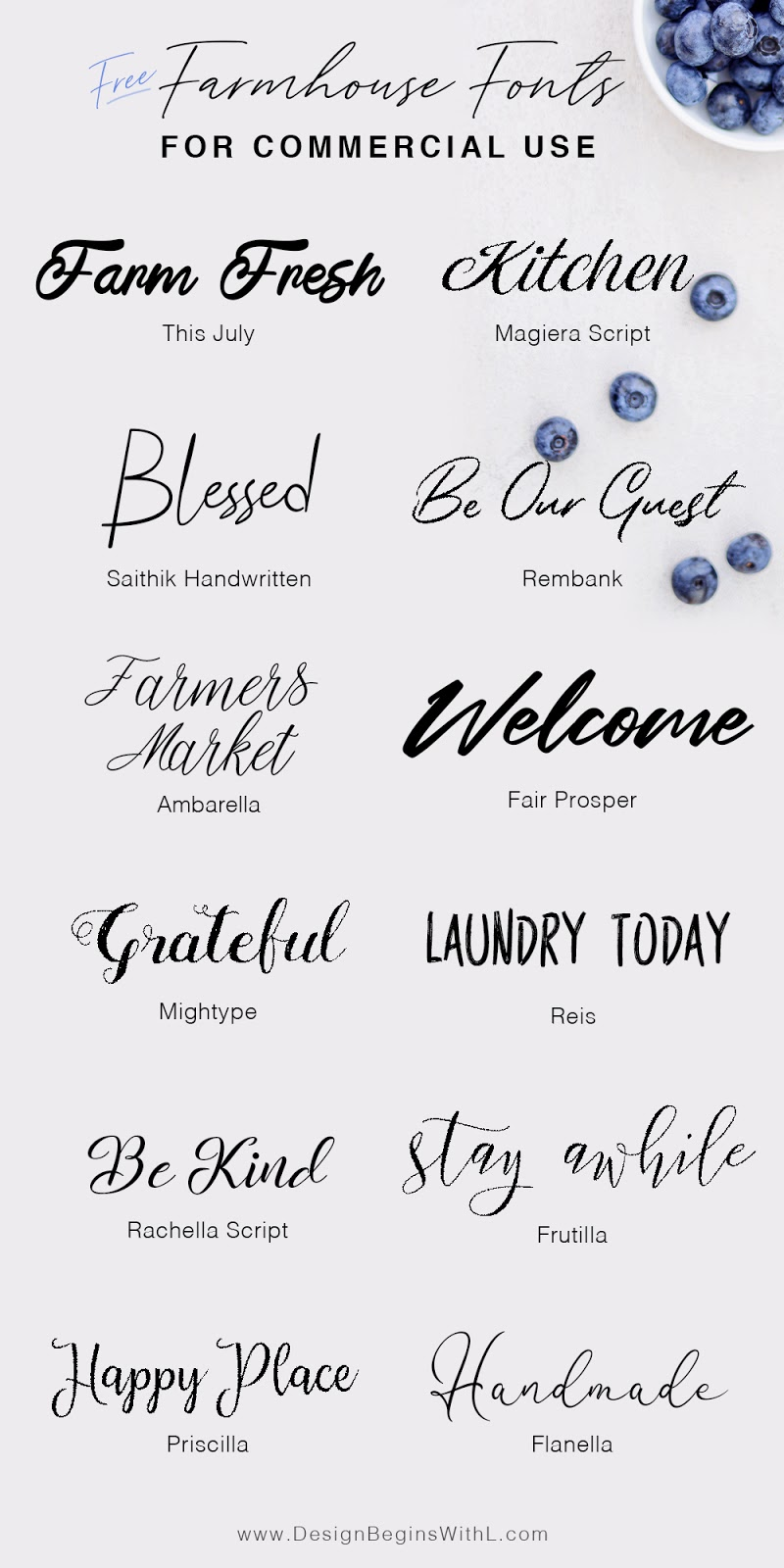 12 Free Farmhouse Fonts For Commercial Use