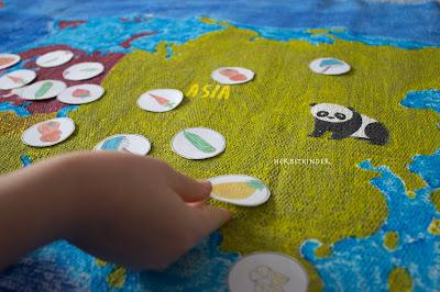 Montessori Zuordnungsspiel Anbaugebiete Obst Gemüse