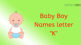 "Baby Boy Names starting with the letter ""K"""