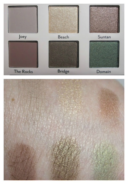 Cargo Down Under eye shadow palette swatches