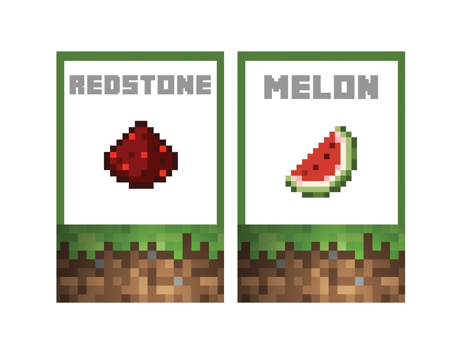 It is a picture of Superb Minecraft Birthday Food Labels