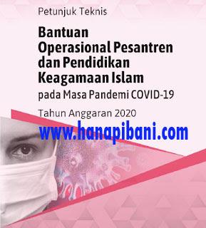 Juknis BOP Pondok Pesantren dan Pendidikan Keagamaan Masa Covid-19 Tahun 2020