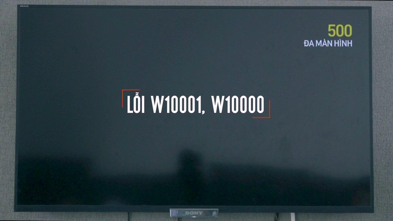 Khắc phục lỗi W10001, W10000, W20000, W20004 trên truyền hình Viettel