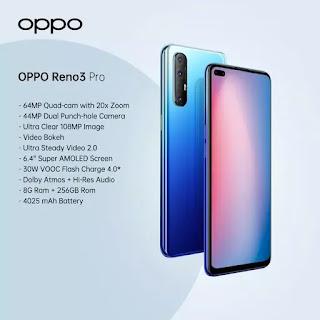 سعر ومواصفات oppo Reno 3 pro