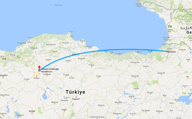 Artvin'den Ankara'ya uçak bileti